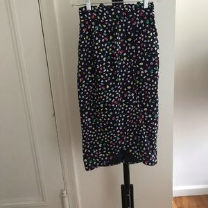 Jcrew high waisted dress with bow back